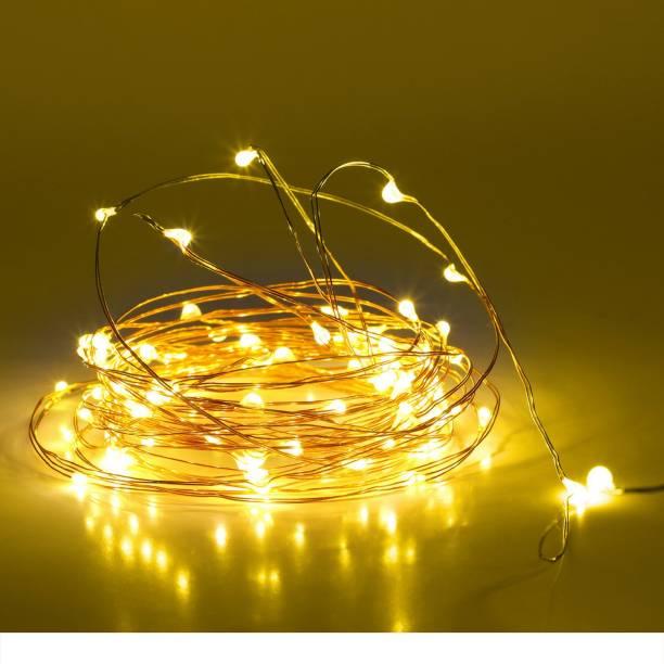 Mansaa  Inch Yellow Gold Rice Lights