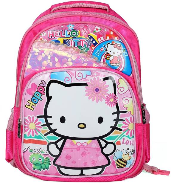 deafd610e1 GOCART Hello Kitty Kids Trolley School Bag For Girls  Boys School Backpack  Suitable Upto 7Year Old
