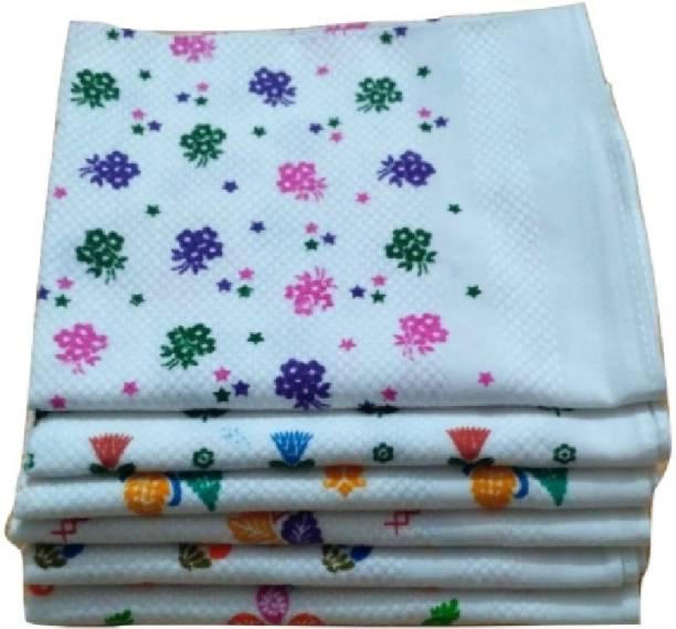 Cotton Colors White Printed 49 Multicolor Napkins