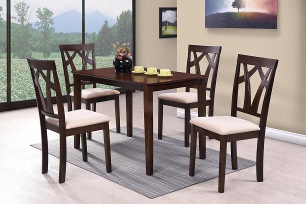 Furn Central Estela Solid Wood 4 Seater Dining Set