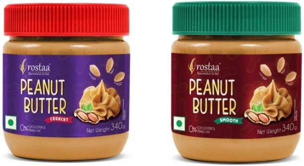 rostaa PeanutButter Smooth & Crunchy Combo Pack 680 g