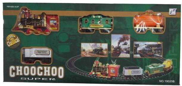dmpl fastdeal Train Emits Real Smoke Light Sound Track Set Battery Operated Choochoo Classical (Multicolor)