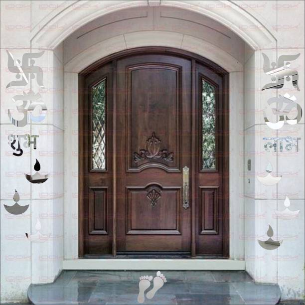 c5225031f7c LOOK DECOR Extra Large Om Swastik Silver (Pack of 14)Acrylic Sticker