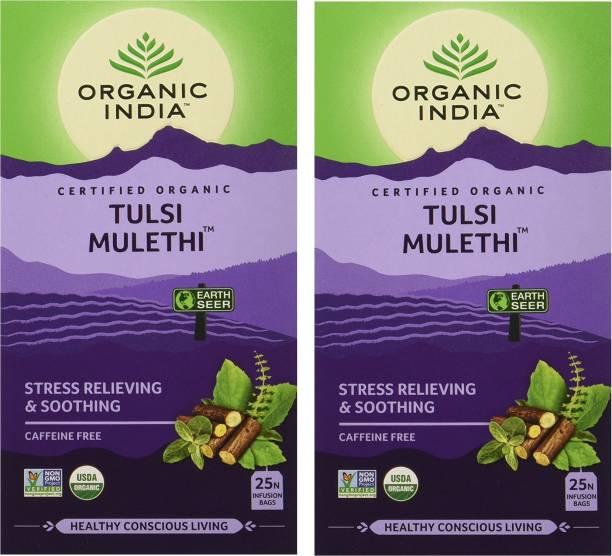 ORGANIC INDIA Tulsi Mulethi Tulsi Herbal Infusion Bags Box