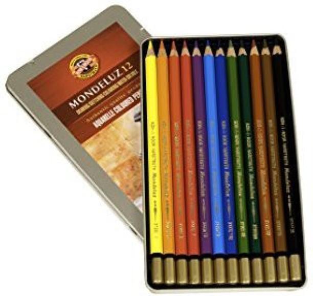 Caran Dache Prismalo Aquarelle Artist Watercolour Pencil Metal Case Set Of 12