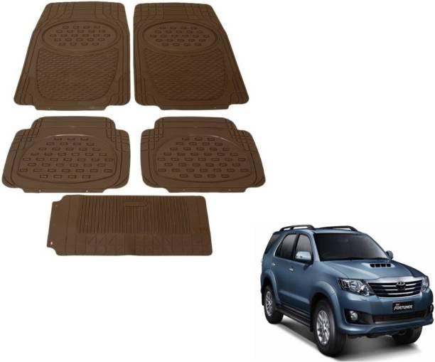MOCKHE Rubber, Plastic Standard Mat For  Toyota Fortuner