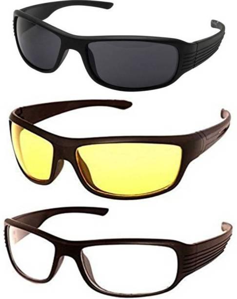 2da609a0fa ATTRACTIVE Day And Night Vision Goggle With White Transparent Goggle Sports  Goggles