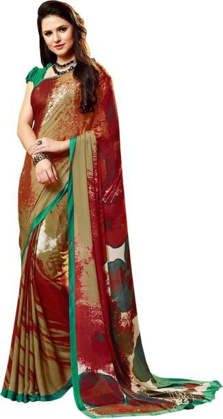 9d9f6bfee901b3 Jaanvi fashion Digital Prints Bollywood Crepe Saree