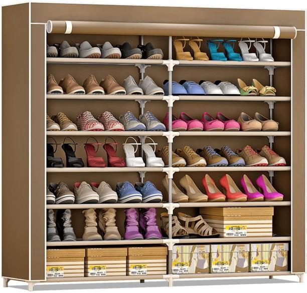 Brown /& Beige 20 Pocket Closet Shoe Bins Internets Best Over the Door Hanging Shoe Organizer Large Canvas Pockets