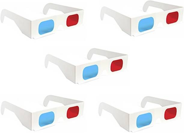 Gadget Hero's 5 Pc. Anaglyph 3D Paper Video Glasses