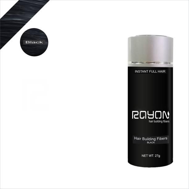 RAYON Hair Building fiber - Black RYNHBFBK01 Hair Volumerizer Hair Volumizer Fiber