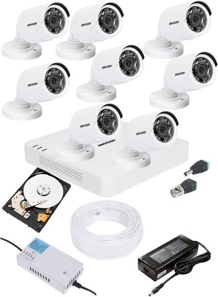 Hik Vision 2MP HD 8 CHANNAL DVR DS-HGHI-F1 & 8Pcs BULLET 1080p DS-COT-IRP Camera COMBO KIT Security Camera