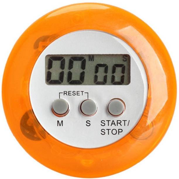 Rhonnium Papaya Whip Round Magnetic Lcd Digital Kitchen Countdown Timer Alarm With Stand