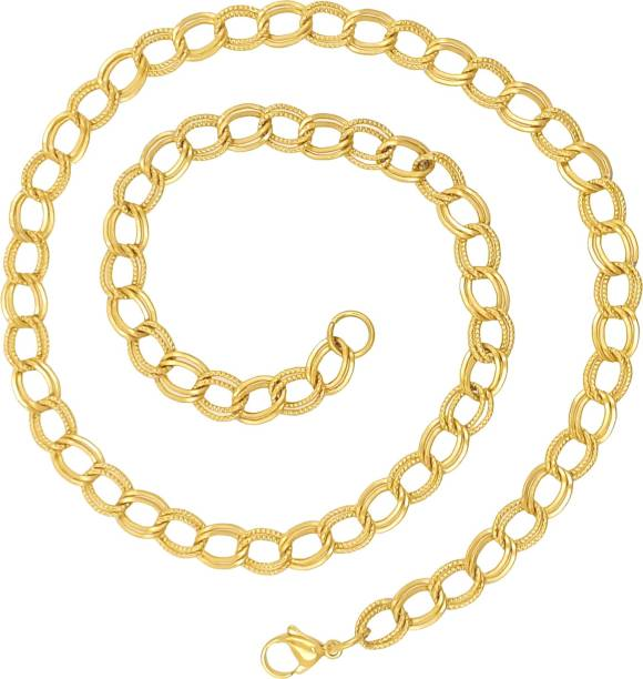 824a6b9236b Saizen CH233 Dazzling Yellow Gold Chain For Men, Boyfriend & Husband Gold-plated  Plated