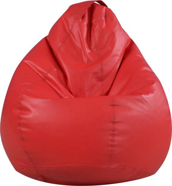 Satin Cloud XL Tear Drop Bean Bag Cover  (Without Beans)