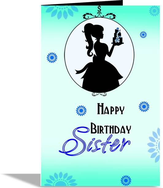 alwaysgift Happy Birthday Sister Greeting Card Greeting Card