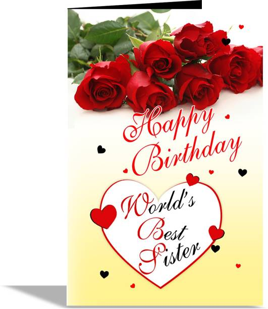 alwaysgift World's Best Sister Greeting Card Greeting Card