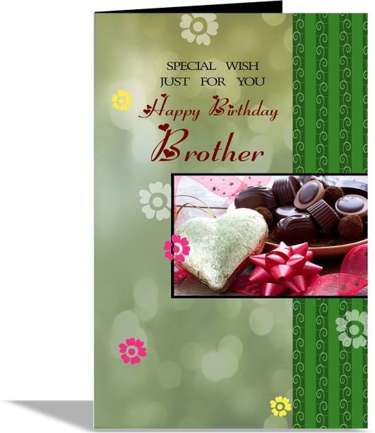 alwaysgift Special Wish Just For You Happy Birhday Brother Greeting Card Greeting Card
