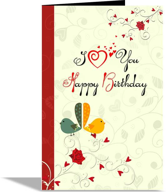 alwaysgift I Love You HaPPY Birthday Greeting Card Greeting Card