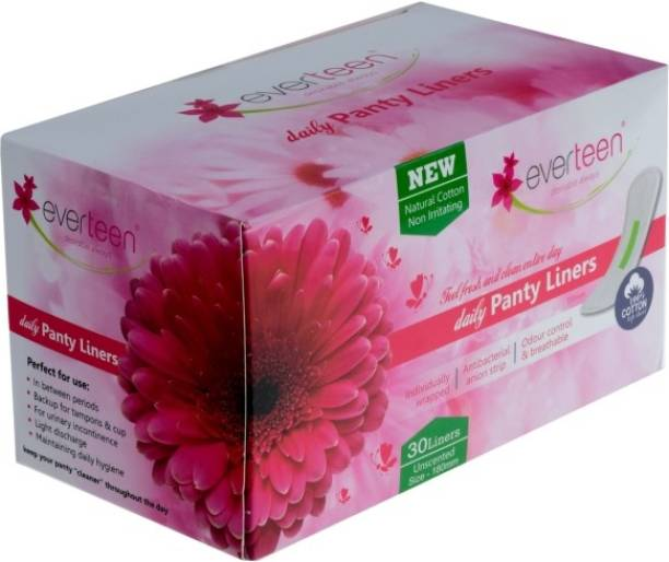 everteen 100% Natural Cotton Daily Panty Liners (Box of 30pcs) Pantyliner