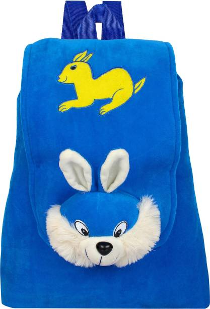 Pandora Rabbit Face Velvet School Full Flap Bag for Nursery Kids ad6a0f81d20b6