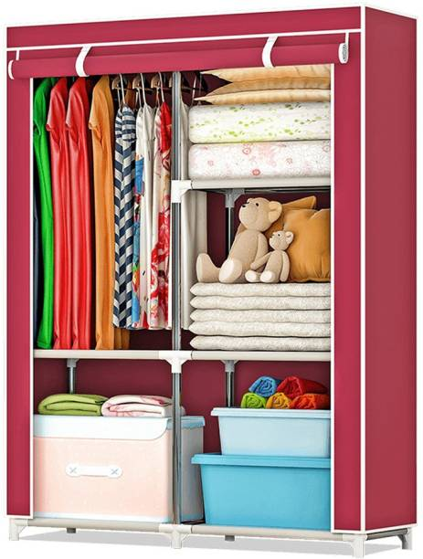 Flipkart Perfect Homes Studio 1 Door Polyester Collapsible Wardrobe