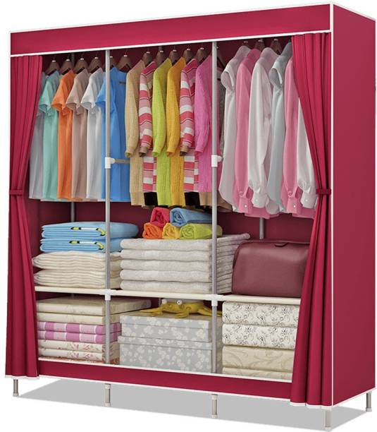 Flipkart Perfect Homes Studio 2 Door Polyester Collapsible Wardrobe