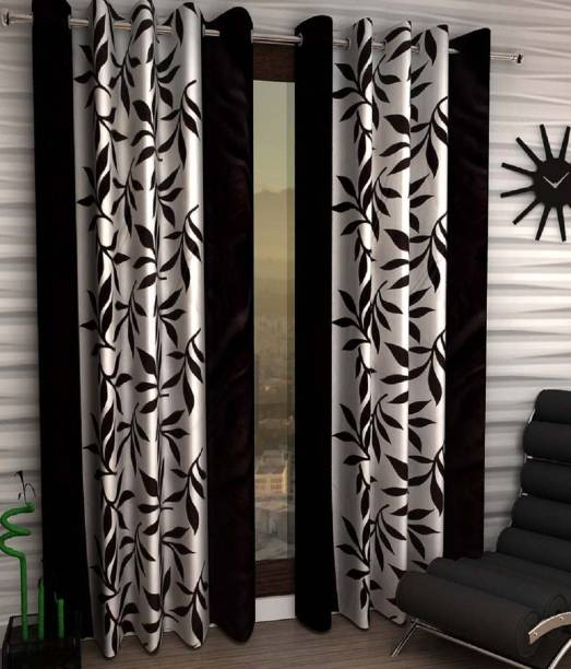 Phyto Home 152 cm (5 ft) Polyester Window Curtain (Pack Of 2)
