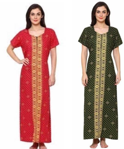 D S Fabrics Night Dresses Nighties - Buy D S Fabrics Night Dresses ...