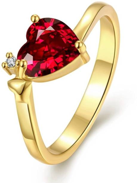 339194e904b418 Lady Touch Lady touch  Queen Heart  Red Austrian Crystal Ring For  Women Adjustable Alloy Cubic