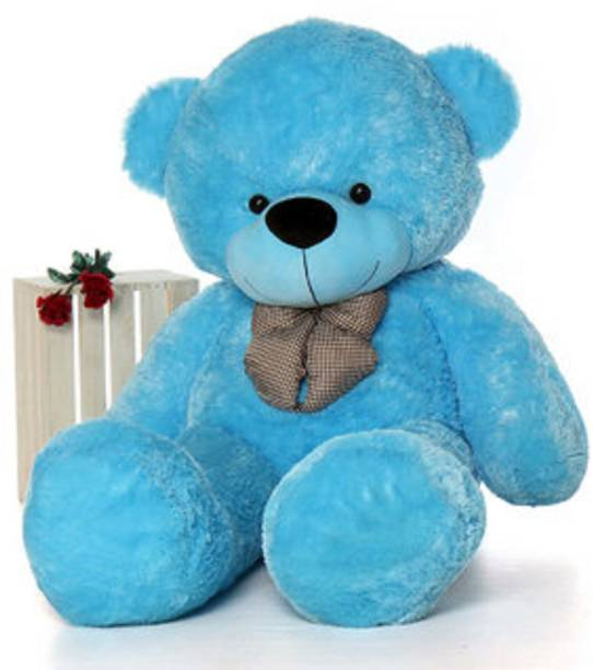 Teddy bears buy valentine teddy bears online at best prices in stuffed toy 3 feet cute blue fur heart teddy bear altavistaventures Image collections
