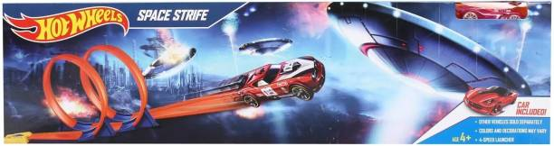 HOT WHEELS Space Strife trackset includes 1 Die-cast car