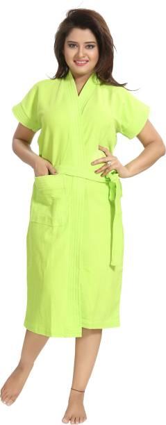 Be You Green Free Size Bath Robe