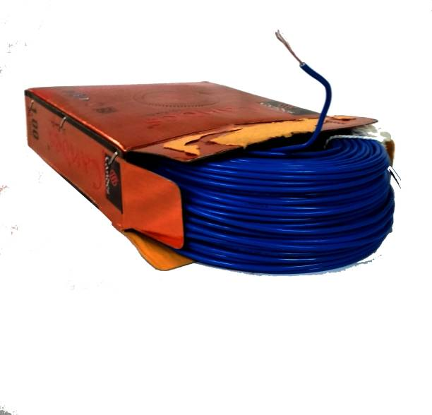 Wires buy electrical wires online at best prices in india candes fr pvc 1 sqmm blue 90 m wire greentooth Gallery