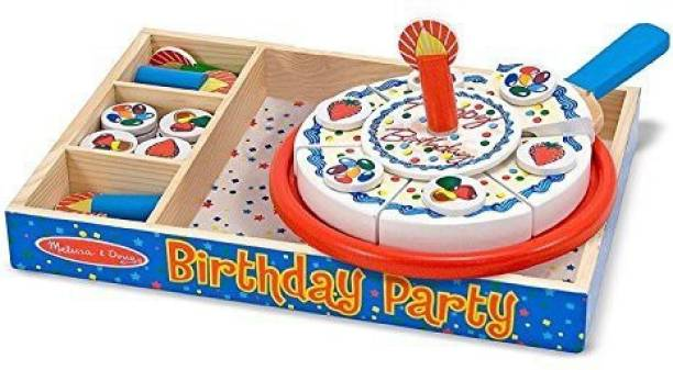 Generic Melissa Doug Learning Toy Birthday Party Cake Wooden Box Pleyset