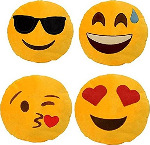 the best attitude 8120f 55830 Frantic Premium Quality Cool Dude, Happy, Flying Kiss and Heart Eyes Soft  Smiley Cushion
