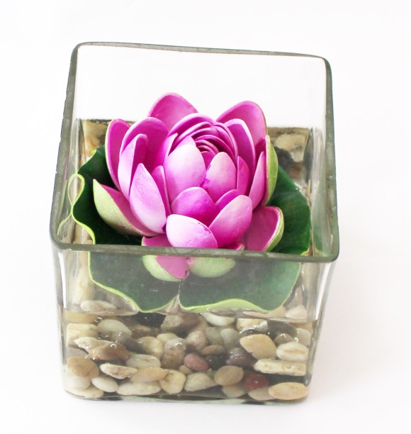 Tied Ribbons Square glass vessel with faux Lotus and natural stones Flower Vases With Artificial Flowers  sc 1 st  Flipkart & Vases - Buy Vases Online at Best Prices In India | Flipkart.com