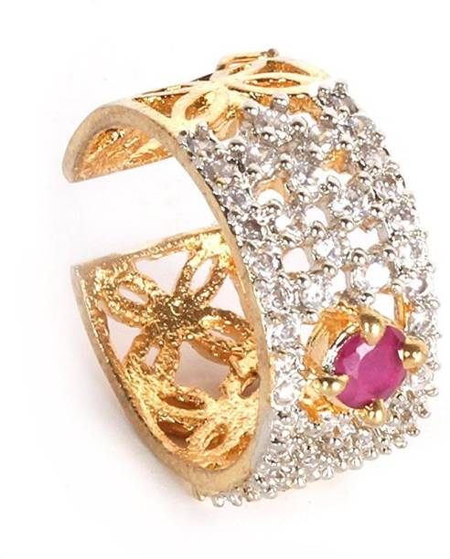 4dd3c2a781b5b8 Lady Touch Lady Touch American Diamond Gold Plated Fashion Ring For Girls    Women Alloy Cubic