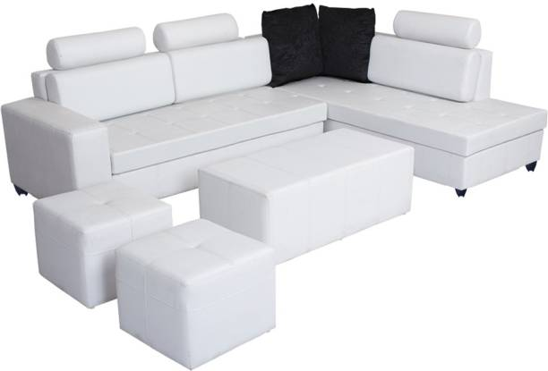 Bharat Lifestyle Orchid Leatherette 3 Seater  Sofa