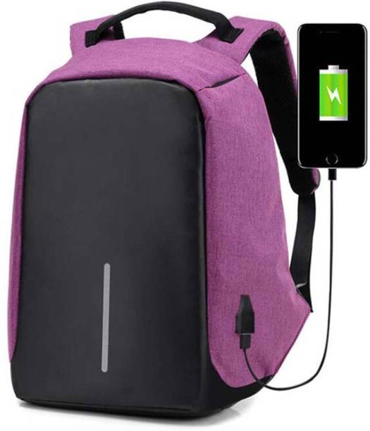 56a00ca859d1 Bluebird ™ Anti-Theft Backpack Laptop Bag with USB charging Port (Black