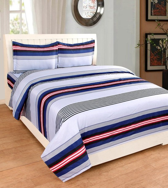 Astra 1 TC Polycotton Double Striped Bedsheet