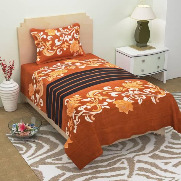 Home Elite 104 TC Microfiber Single Floral Bedsheet