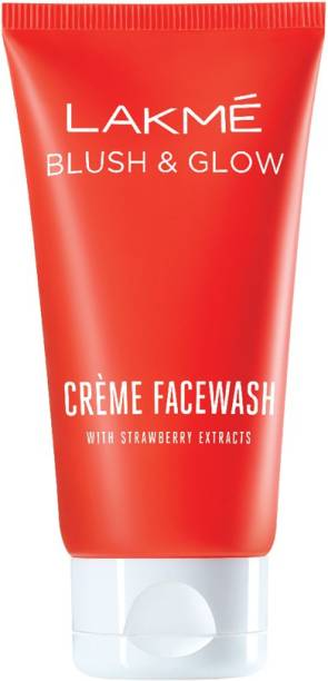 Lakmé Blush and Glow Strawberry Extracts Creme Face Wash