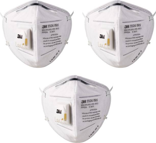 88d75703def Vezual 3M 9504INV P2 POLLUTION   DUST   DISPOSABLE (PAACK OF 3) Mask and