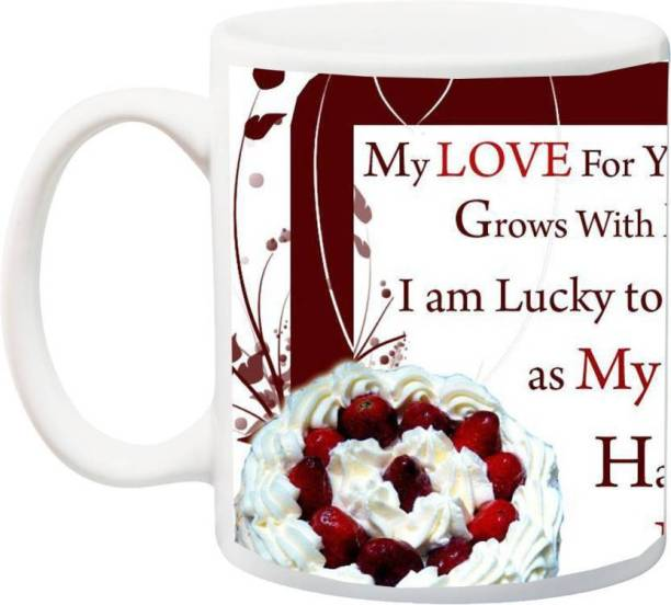 MUGKIN Happy Birthday;Wife/husband,My love for you as me Partner Ceramic Coffee Mug
