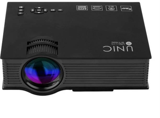 MANIA ELECTRO Multimedia Mini Unic Portable LED Projector HD 1080P with WIFI 2.4G Wireless Screen Portable Projector