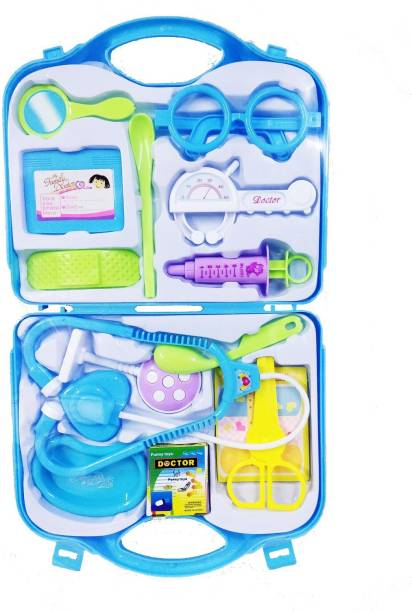 EMOB Multiple Accessories Doctor Pretend Play Toy Set with Incredible Detailing for Kids