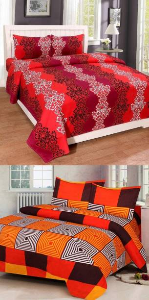 Swiss India 180 TC Polycotton Double Floral Bedsheet
