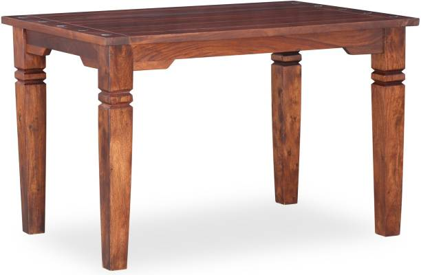 Furnspace Albina Four Seater Dinning Table Solid Wood 4 Seater Dining Table