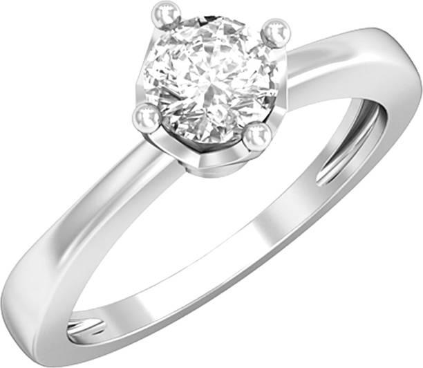 Indi Creation Sterling Silver Swarovski Zirconia Plated Ring